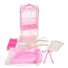 1 Pcs Fashion Crib Baby Doll Bed Accessories Cot for Barbie Girls Gifts ;!