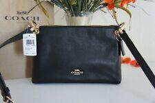 NWT COACH F76645 Mia Shoulder Bag Crossbody Classic Purse Clutch Black Leather