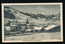 Switzerland ZWEISIMMEN Winterlandschaft c1920s used PPC