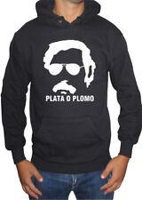fm10 sudadera con capucha hombre PABLO ESCOBAR narcos serie tv PLOMO O PLATA