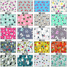 ECO NON-TOXIC PUL COTTON BABY WATERPROOF FABRIC NAPPY BIBS BAG TABLETOP OILCLOTH
