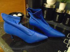 NEW NEXT ladies sock fit ..bright blue kitten heel boots..size uk 4.. rp £40