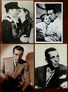 Humphrey Bogart 3 X Cartes Postales + 1 X Photographe