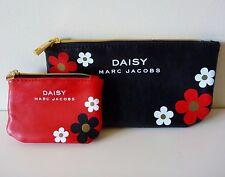 Set of 2 Daisy Marc Jacobs Makeup Cosmetics Pouch / Coin Bag, Brand New!