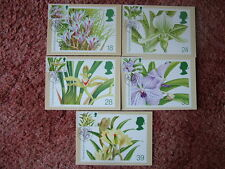 PHQ bollo carta impostato FDI anteriore n 151 orchidee, 1993. set di 5 carte.  Ottime condizioni