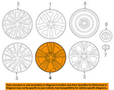 TOYOTA OEM 14-15 Highlander-Wheel-Alloy Aluminum 4260D0E010