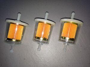 """(3 THREE) GKI GF68PL 1/4"""" Plastic Inline Gas Filter LOT fits G1 33001 F20117"""