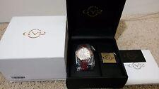 Gevril GV2 9104 Astor Women's Swiss Made Quartz 50 Diamonds Gold Watch NEW w Tag
