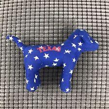 Texas Dog Stuffed Plush Toy Blue Star Pattern Print