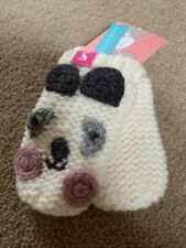 Joules Baby Girl Panda Mittens Age 6-12 Months Brand New With Tag