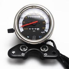 Tachymètre de Moto Digital Compteur de Vitesse Universel Odomètre 12V
