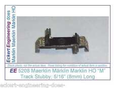 "EE 5208 NEW Marklin HO ""M"" Track Stubby Piece 5208N  Big Curve Radius 8 mm long"