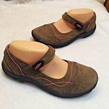 Keen Brown Nubuck Mary Jane MJ Shoe Adjustable Strap Pink 39 6