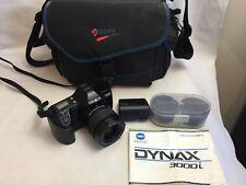 Minolta Dynax 3000i - 35mm Film Camera - 35-80mm Lens - Flash - Bag - Manual -