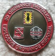 RARE 3rd ORDNANCE BATTALION EXPLOSIVE ORDNANCE DISPOSAL Challenge Coin