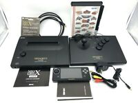 Neo Geo X Gold Handheld Consol Complete in Box with X Mega Pack MINT