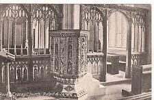 Pulpit & Screen Inside Church, BOVEY TRACEY, Devon
