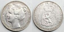 Netherlands HOLLANDA PAISES BAJOS Wilhelmina I 1904 1 GULDEN SILVER COIN XF