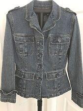 Plugg Women's Denim Jacket Coat, Size Medium