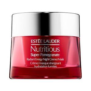 NEW Estee Lauder Nutritious Super-Pomegranate Radiant Energy Night Cream 1.7oz