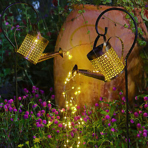 Solar Powered LED Watering Can String Light Outdoor Garden Art Lamp Decoration G