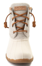 NEW Sperry Top-Sider ~ Size 5 M ~ Waterproof Rubber Womens Boot - Ivory