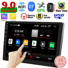 FHD Double 2DIN Android 9.0 10in Car Stereo MP5 Player GPS Navi BT WiFi FM Radio