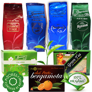 Organic Grown Black Green Tea Gorreana Azores Pekoe Hysson Orange Pekoe Bergamot