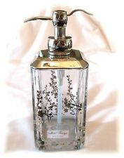 Hotel Firenze Soap Lotion Pump Dispenser Clear Mettalic Silver Floral Bath New
