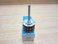 Centralab 1413 Rotary Switch Phenolic 2 Pole 11 Position Non-Shorting CRL