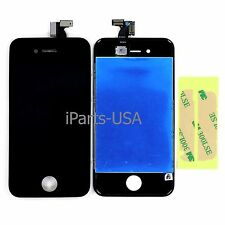 USA Digitizer + LCD Display Screen Assembly for Apple iPhone 4S Black + Adhesive