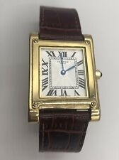 VINTAGE CARTIER TANK GOLD VERMEIL 20mm QUARTZ WATCH MODEL 20-61323 AUTHENTIC