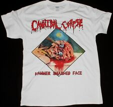 CANNIBAL CORPSE HAMMER SMASHED FACE DEATH METAL CHRIS BARNES NEW WHITE T-SHIRT