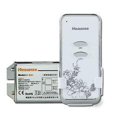 RF 1 Ch Digital Wireless Remote Control Power Switch Light 220V On Off AC Cord