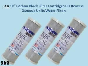 "3 x CTO Carbon Block Cartridge Suitable for Standard 10"" long filter housing 362"