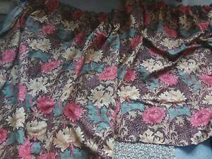 """SANDERSON W.Morris CHRYSANTHEMUM Linen vintage curtains thick each D 51""""W69"""""""