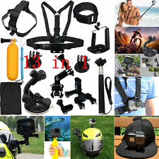 13PCS Chest Head Mount Monopod Kit Bundle Accessories For GoPro 2 3 4 5 6 Camera
