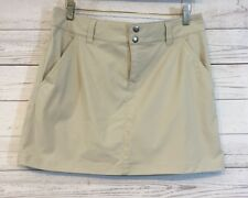 Columbia Womens Skirt Omni Shield Advanced Repellency Athletic Beige Size 10