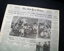 ARMY-NAVY GAME College Football Rivalry West Point vs. Annapolis 1941 Newspaper