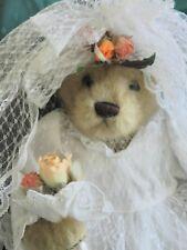 Color Rich Limited BrIdal Teddy Bear in a  Beautiful Wedding Dress 13 inches!