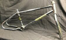 1983 Chrome Mongoose Expert Old School Bmx Loop tail Frame Fork Headset