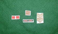 1/6 WW2 british argyll & sutherland highlanders a&sh titres & patch set lot