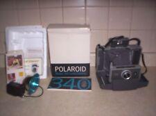 VINTAGE POLAROID 340 LAND CAMERA IN BOX W/ PAPERWORK  W 268 FLASH