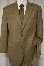 BROOKS BROTHERS Brown Plaid Sport Coat/Blazer 42R + Ermenegildo Zega Tie