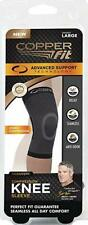 "Copper Fit Support Knee Sleeve 13.5"" - 16.5"" Black - Medium"