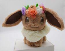 Japan Pokemon Center Easter 2018 Eevee Plush With Flower Crown Kawaii