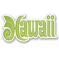 2 x 10cm Hawaii Vinyl Decal Sticker Laptop Car Camper Van Luggage Travel #5641