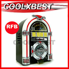 (RFB) CROSLEY RETRO TABLETOP JUKEBOX CD RADIO LED AUX For iPOD iPHONE