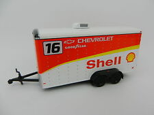 2017 GREENLIGHT 1:64 *SHELL RACING* Enclosed Car Trailer *HITCH & TOW* NEW!