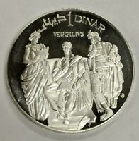 1969 Tunisia Sterling Silver Proof 1 Dinar Vergilius